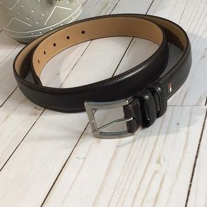 Tommy Hilfiger Classic Brown Leather Belt